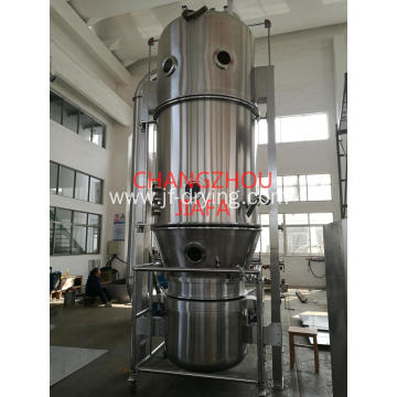 Fluid bed granulating machine